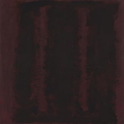Untitled {Sketch for Mural/ Black on Maroon} [Seagram Mural Sketch]
