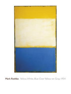 Yellow, White, Blue Over Yellow on Gray, 1954 by Mark Rothko