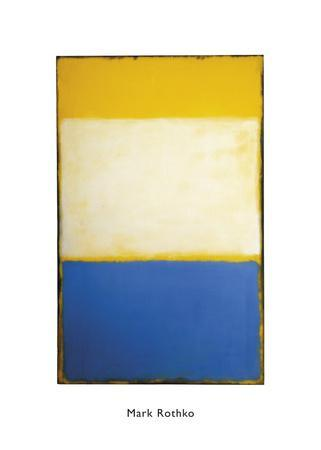 Yellow, White, Blue Over Yellow on Gray, 1954
