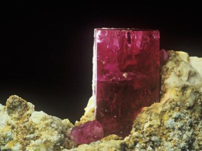 Beryl Crystal on Rhyolite