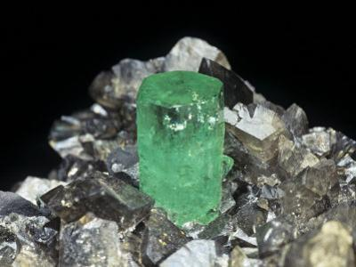 Emerald Crystal in Calcite, Colombia, South America