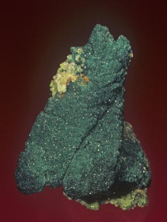 Malachite with Azurite and Quartz, Tsumeb Mine, Namibia, Africa