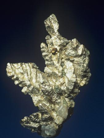 Native Silver (Ag) with Copper and Calcite, Quincy Mine, Houghton County, Michigan, USA
