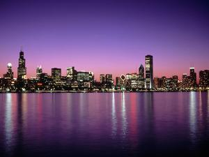 Chicago Skyline at Sunset, IL by Mark Segal