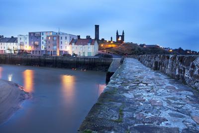 St. Andrews Harbour before Dawn, Fife, Scotland, United Kingdom, Europe