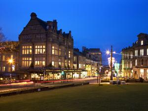 Bettys and Parliament Street at Dusk, Harrogate, North Yorkshire, Yorkshire, England, United Kingdo by Mark Sunderland