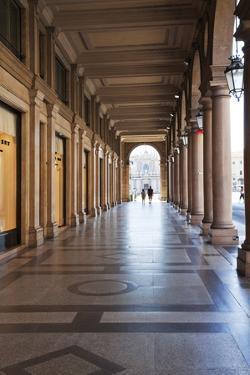 Colonnades Along Via Roma, Turin, Piedmont, Italy, Europe by Mark Sunderland