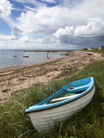 Fishing Boat on the Beach at Carnoustie, Angus, Scotland, United Kingdom, Europe