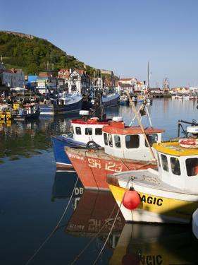 Fishing Boats in the Harbour, Scarborough, North Yorkshire, Yorkshire, England, UK, Europe by Mark Sunderland
