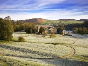 Frosty Morning at Bolton Priory Ruins (Bolton Abbey), Yorkshire Dales National Park, Yorkshire, Eng by Mark Sunderland