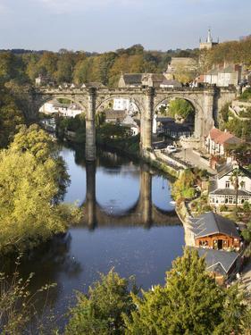 Knaresborough Viaduct and River Nidd in Autumn, North Yorkshire, Yorkshire, England, United Kingdom by Mark Sunderland