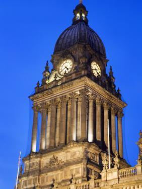 Leeds Town Hall at Dusk, Leeds, West Yorkshire, Yorkshire, England, United Kingdom, Europe by Mark Sunderland