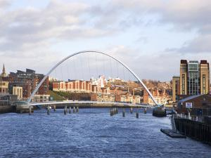 Millennium Bridge and the Baltic from the Swing Bridge, Newcastle Upon Tyne, Tyne and Wear, England by Mark Sunderland
