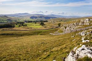 Ribblesdale and Ingleborough from Above Langcliffe Near Settle, Yorkshire, England by Mark Sunderland