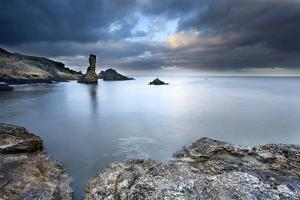 Rock and Spindle on the Fife Coast Near St. Andrews, Fife, Scotland, United Kingdom, Europe by Mark Sunderland
