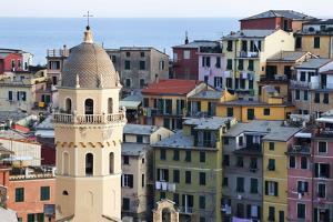 Santa Margherita Church and Colourful Buildings at Dusk by Mark Sunderland