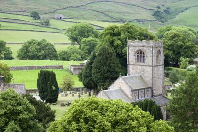 St. Wilfrids Church in the Village of Burnsall in Wharfedale, Yorkshire Dales, Yorkshire, England by Mark Sunderland