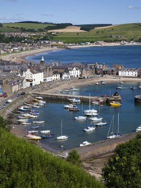 Stonehaven Harbour and Bay from Harbour View, Stonehaven, Aberdeenshire, Scotland, UK, Europe by Mark Sunderland