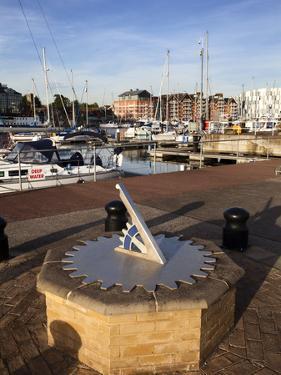 Sundial at Ipswich Haven Marina, Ipswich, Suffolk, England, United Kingdom, Europe by Mark Sunderland