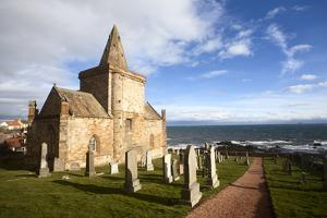 The Auld Kirk and Kirkyard on the Fife Coast at St. Monans, Fife, Scotland, United Kingdom, Europe by Mark Sunderland