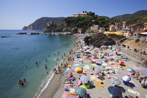 The Free Beach in the Old Town at Monterosso Al Mare by Mark Sunderland