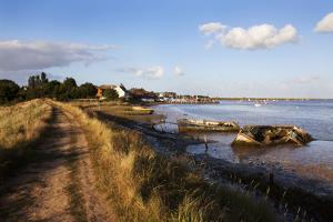 Track by the River at Orford Quay, Orford, Suffolk, England, United Kingdom, Europe by Mark Sunderland
