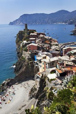 Vernazza from the Cinque Terre Coastal Path by Mark Sunderland