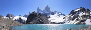 Mt Fitz Roy and Laguna Los Tres, Panoramic View, Fitzroy National Park, Argentina by Mark Taylor