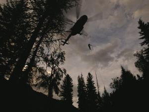 As Many as Twenty Firefighters Can Rappel to a Fire from a Turbo-Powered Helicopter by Mark Thiessen