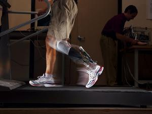 Motorized Springs in a Powered Ankle Push Off Like a Real Leg by Mark Thiessen