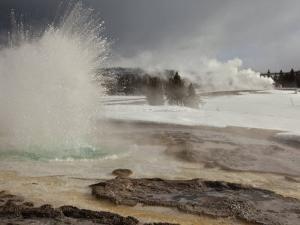 Snowmelt and Rainwater Blast from Sawmill Geyser by Mark Thiessen
