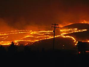 View of a Forest Fire Near Boise, Idaho in 1996 by Mark Thiessen