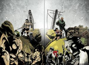 Zombies vs. Robots: Undercity - Page Spread by Mark Torres