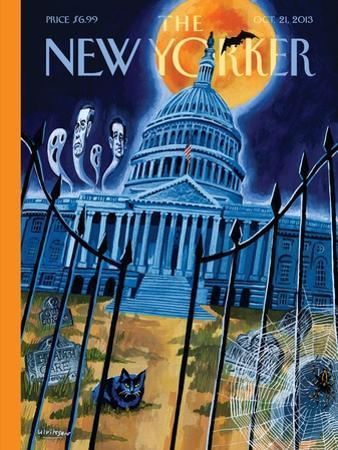 Haunted House - The New Yorker Cover, October 21, 2013