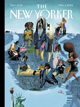 The New Yorker Cover - April 11, 2005 by Mark Ulriksen
