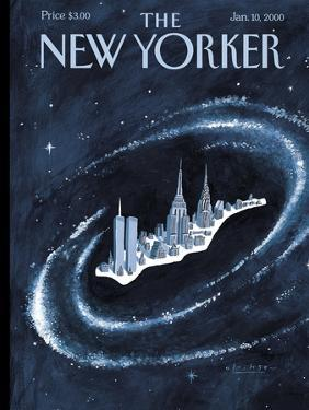 The New Yorker Cover - January 10, 2000 by Mark Ulriksen