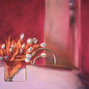 Tulips Pink by Mark Van Crombrugge