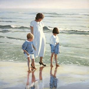 Walk on Beach by Mark Van Crombrugge