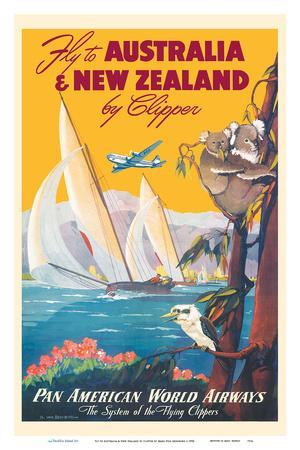 Australia & New Zealand by Clipper - Pan American World Airways