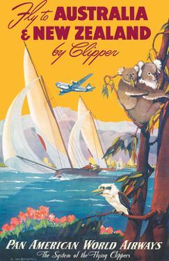 Australia & New Zealand by Clipper - Pan American World Airways by Mark Von Arenburg