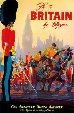 Fly To Britain By Clipper - Pan American World Airways (PAA) - British Royal Procession by Mark Von Arenburg