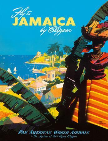Fly to - Jamaica - by Clipper - Pan American World Airways by Mark Von Arenburg