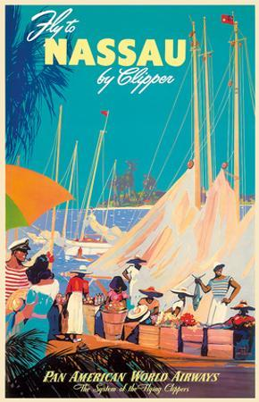 Fly to Nassau by Clipper - New Providence Island, The Bahamas - Pan American World Airways (PAA) by Mark Von Arenburg