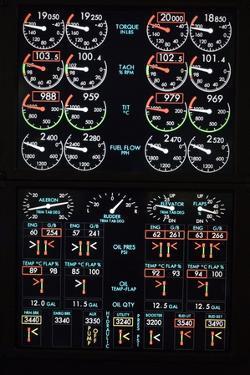 Aeroplane Control Panel Display by Mark Williamson