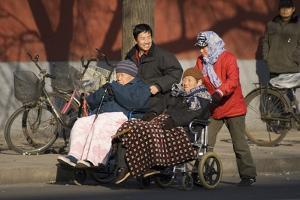 Elderly Chinese In Wheelchairs by Mark Williamson