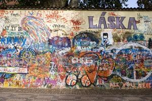 Lennon Wall, Prague by Mark Williamson