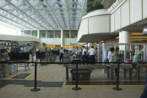 Security Area At Orlando Airport Florida by Mark Williamson
