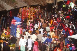 Market, Tihar Festival, Katmandu, Nepal