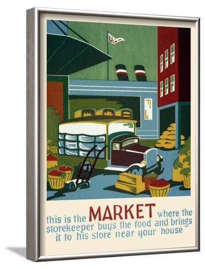 Market--Framed Art Print