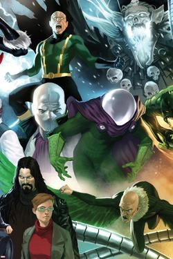 The Amazing Spider-Man No.646 Cover: Mysterio, Chameleon, Electro, and Vulture Standing by Marko Djurdjevic